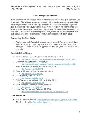 Case Study and Outline