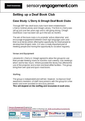 Case Study: L Derry & Omagh Deaf Book Clubs