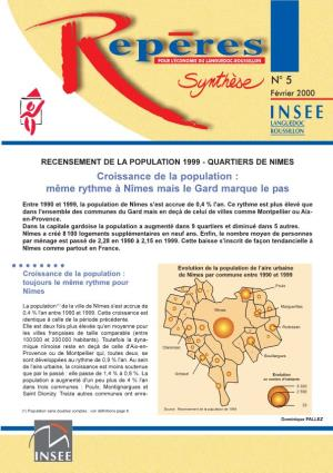 Census of the Population 1999 - Quarters of Nimes