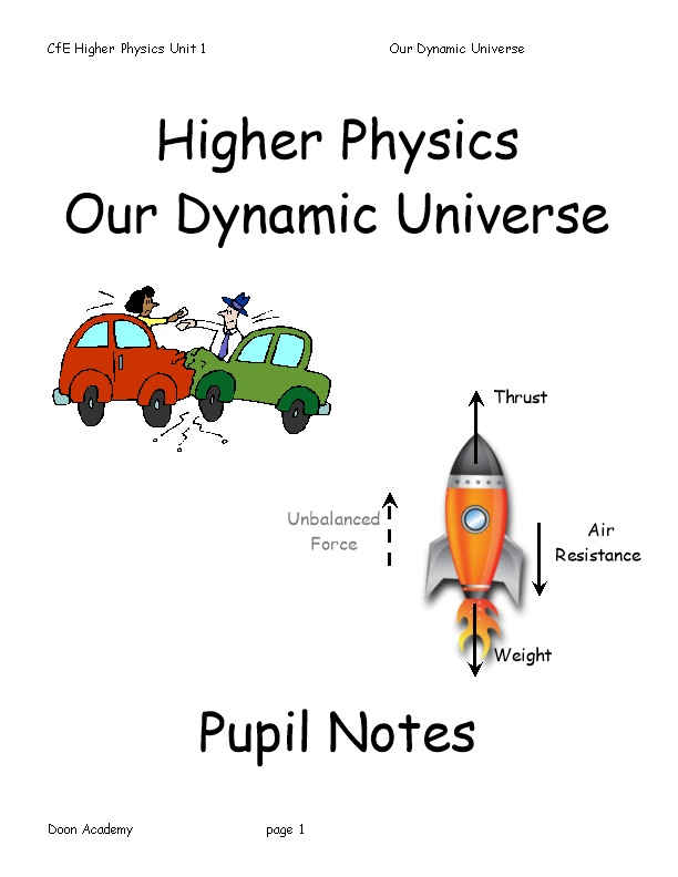 Cfe Higher Physics Unit 1Our Dynamic Universe