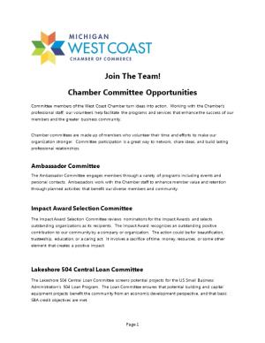 Chamber Committee Opportunities