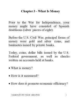 Chapter 1 - What Is Economics About