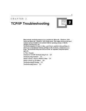 Chapter 3 TCP/IP Troubleshooting 1