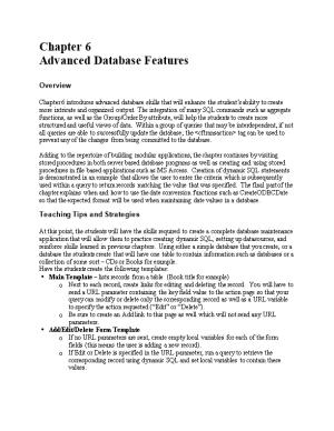 Chapter 6: Advanced Database Features