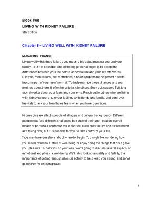 Chapter 8 Living Well with Kidney Failure