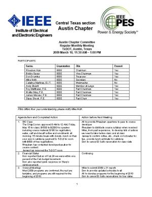 Chapter Committee Meeting Notes