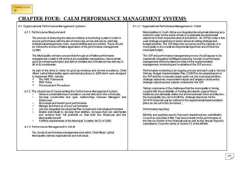 Chapter Four: Calm Performance Management Systems