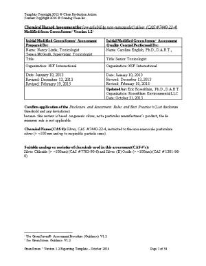 Chemical Hazard Assessment for Low-Solubility, Non-Nanoscale1) Silver (CAS # 7440-22-4)