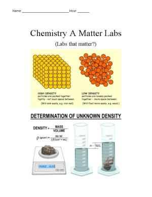 Chemistry a Matter Labs