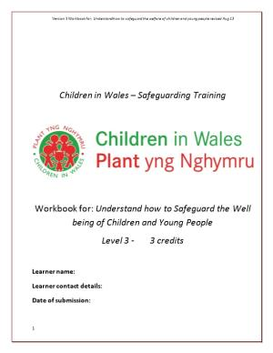 Children in Wales Safeguarding Training