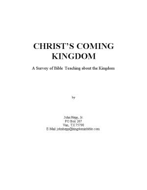 Christ S Coming Kingdom