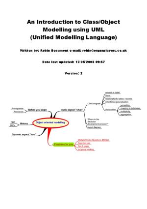 Class/Object Modelling with UML