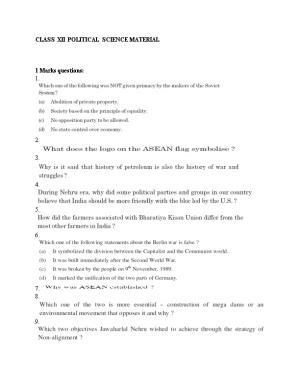 Class Xii Political Science Material
