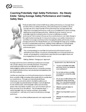 Coaching Potentially High Safety Performers - the Steady Eddie: Taking Average Safety