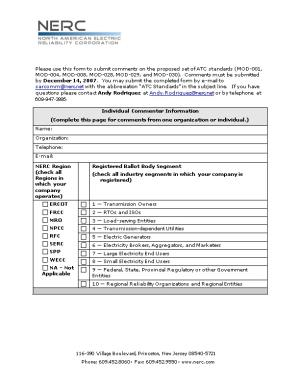 Comment Form 3Rd Draft of Standard MOD-001; 2Nd Draft of Standards MOD-004, MOD-008, MOD-028
