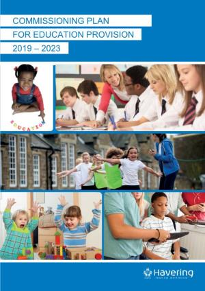 Commissioning Plan for Education Provision 2019-2023