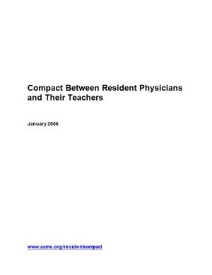 Compact Between Resident Physicians and Their Teachers