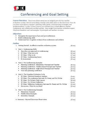 Conferencing and Goal Setting