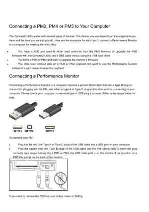 Connecting a PM3, PM4 Or PM5 to Your Computer
