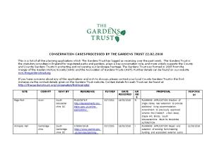 Conservation Cases Processed by the Gardens Trust 22.02.2018