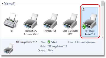 TIFF Image Printer 10 0 is added as a new printer on your computer