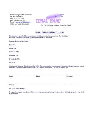 Coral Band Contract