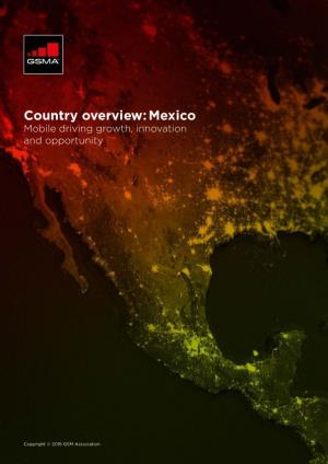 Country Overview: Mexico