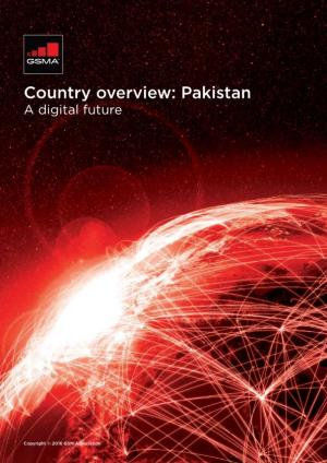 Country Overview: Pakistan a Digital Future