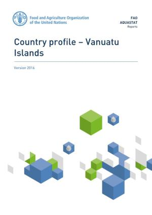 Country Profile – Vanuatu Islands