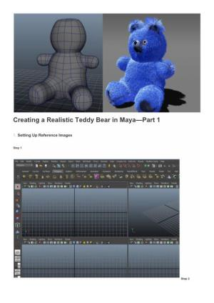Creating a Realistic Teddy Bear in Maya—Part 1