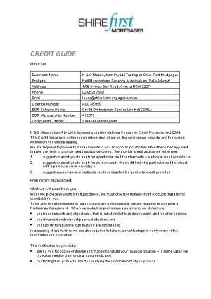 Credit Guide - NCCP - Credit Contract - Top 6 Credit Providers (D1182867)