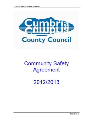 Cumbria Community Safety Agreement