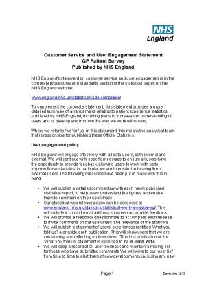 Customer Service and User Engagement Statement