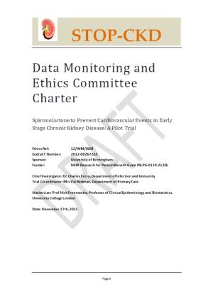 Data Monitoring and Ethics Committee Charter