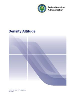 Density Altitude (Federal Aviation)