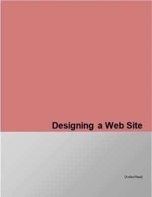 Designing the Web Site