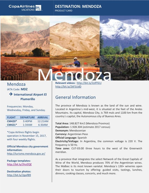 Destination: Mendoza