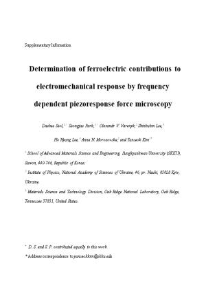 Determination of Ferroelectric Contributions to Electromechanical Response by Frequency