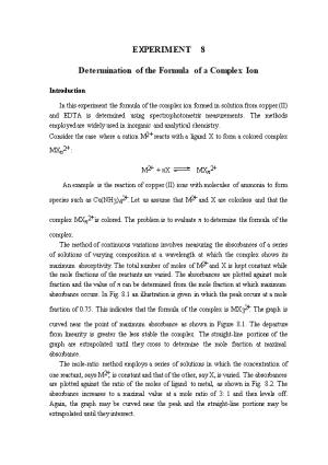 Determination of the Formula of a Complex Ion