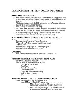 Development Review Board Info Sheet