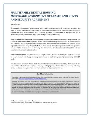 Disaster Recovery Multifamily Rental Mortgage