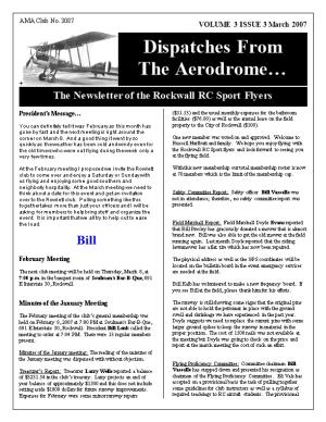 Dispatches from the Aerodrome March 2007Page 1