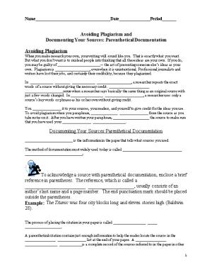 Documenting Your Sources: Parenthetical Documentation