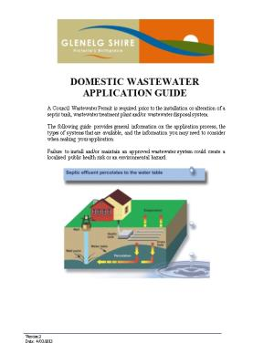 DOMESTIC WASTEWATER APPLICATION GUIDE Page 1 of 23