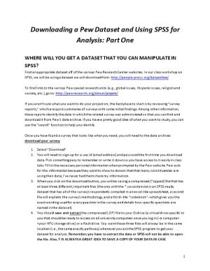 Downloading a Pew Dataset and Using SPSS for Analysis: Part One