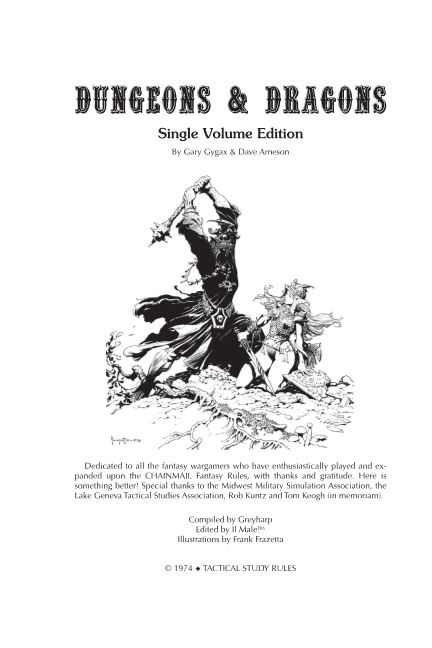 Dungeons & Dragons Single Volume Edition