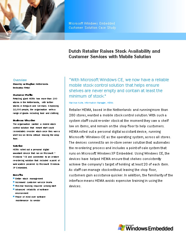 Dutch Retailer Raises Stock Availability and Customer Services with Mobile Solution