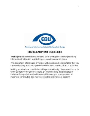 Ebu Clear Print Guidelines