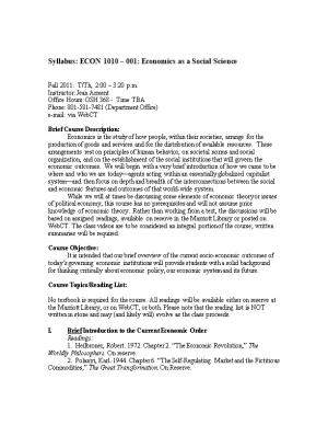 ECON 1010 001: Economics As a Social Science