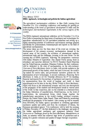 EIMA Agrimach: Agricultural Machinery in India